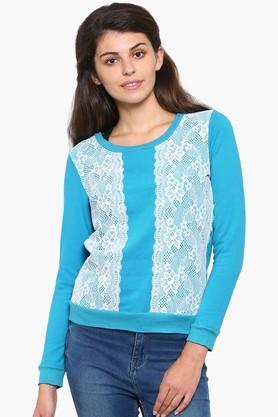 MYSTERE PARISWomens Lace-embellished Sweatshirt - 201835953