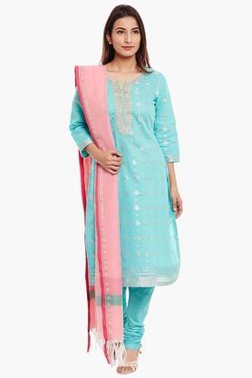 Womens Poly Cotton Straight Fit Suit Set - 202179683