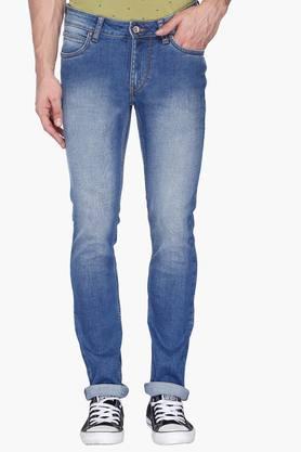 FLYING MACHINEMens Skinny Fit Mild Wash Jeans (Jackson Fit) - 201331539