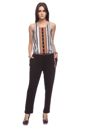 Womens Printed Jumpsuit