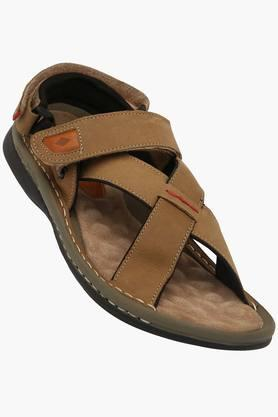 LEE COOPER Mens Synthetic Velcro Closure Sandals  ...