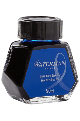 WATERMAN 50 Ml Bottled Liquid Fountain Pen Ink, Serenity Blue
