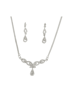 TOUCHSTONE Necklace Set -Mangalsutra Style - 8616301