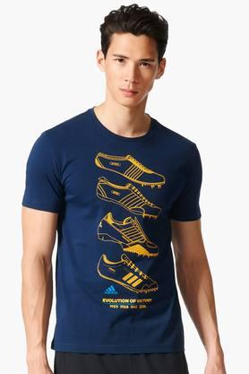 ADIDAS Mens Round Neck Printed T-Shirt - 201142758