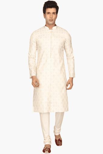 9c5dd20baaf Buy MANYAVAR Mens Cotton Embroidered Kurta Set