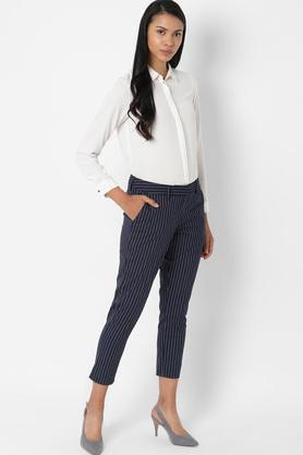 ALLEN SOLLY - NavyTrousers & Pants - 3