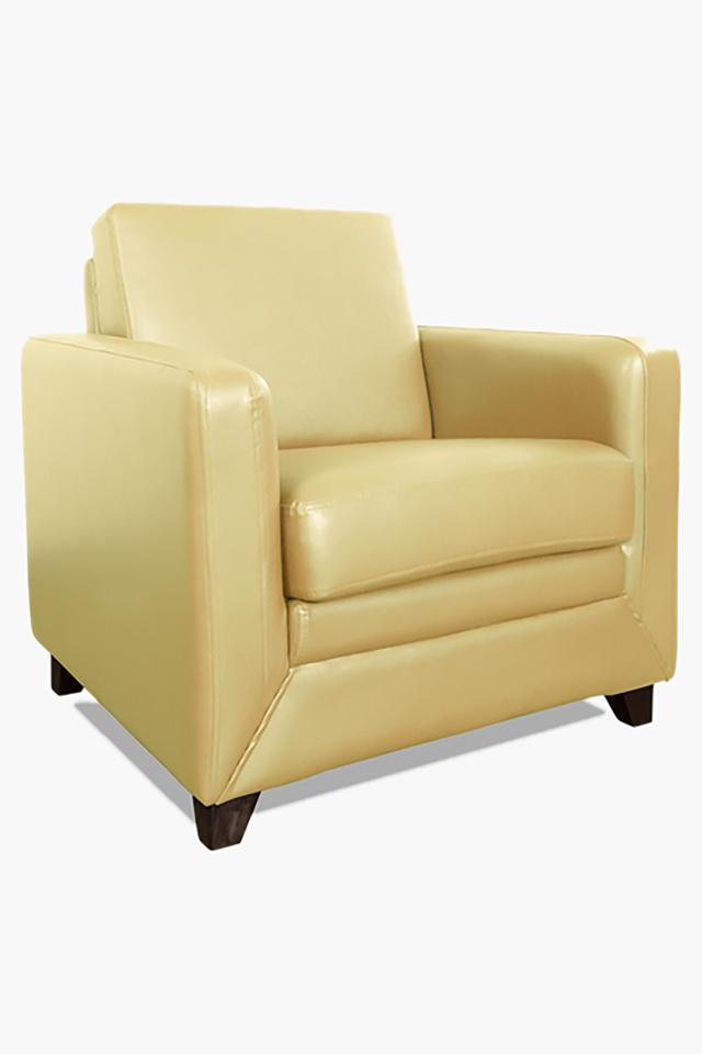 Brunette Ivory Leatherette Sofa (Seater)
