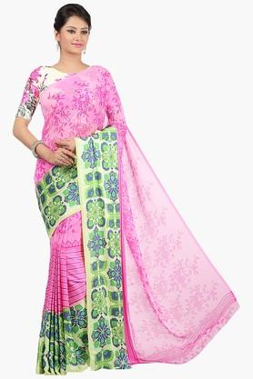 JASHN Womens Printed Georgette Saree