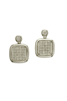 REAL EFFECT Embellished Square Stud Earrings