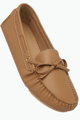 TRESMODEWomens Casual Leather Slipon Loafers