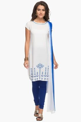 Womens Printed Churidar Suit