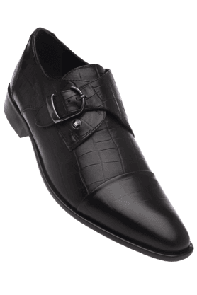 LOUIS PHILIPPE Mens Black Leather Smart Formal Shoe