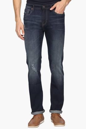 Aeropostale Jeans (Men's) - Mens Slim Fit 5 Pocket Mild Wash Jeans
