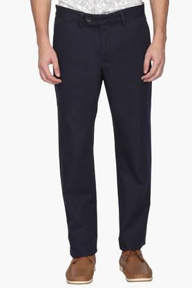 ALLEN SOLLY Mens Regular Fit 5 Pocket Solid Chinos - 202182976