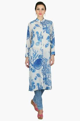JUNIPER Womens Printed Long Kurta