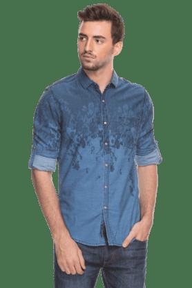 Life Junior O Formal Shirts (Men's) - Mens Full Sleeves Slim Fit Casual Printed Shirt