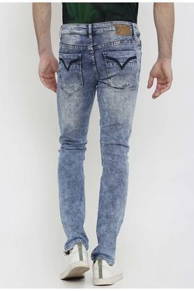 Mens Slim Fit Acid Wash Jeans