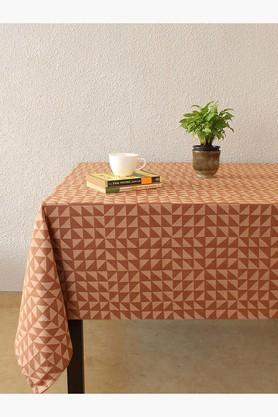The Chaotic Triangles 100% Cotton Table Cover - Brown - 202274703