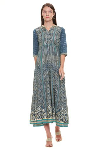 AURELIA -  Ink Blue Aurelia  Buy Worth Rs. 5000 and get Rs. 500 Off  - Main