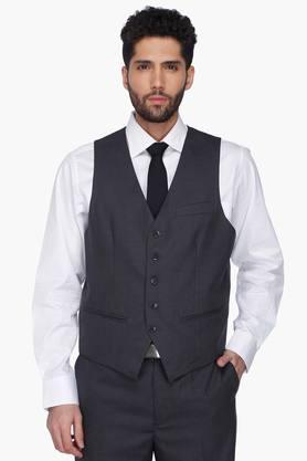 Mens Slub Single Breasted Suit