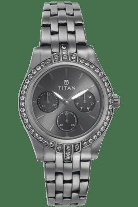 TITANLadies Multifunction Watch With Metallic Strap - Purple Collection - 9968QM01J