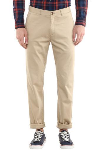 COLOR PLUS -  Light KhakiCasual Trousers - Main