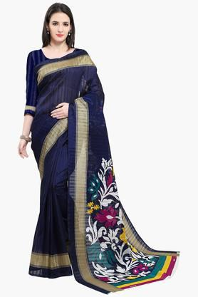 Women Bhagalpuri Art Silk Royal Floral Printed Saree