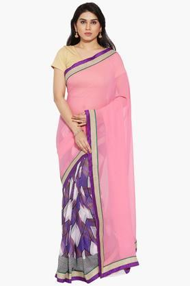 Women Half And Half Georgette Saree