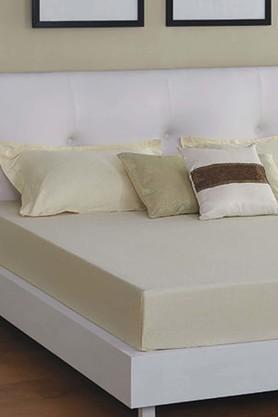 ST CLOUDCream 300 TC Jacquard King Bedsheet With 2 Pillow Cover (Bedsheet Set (King)