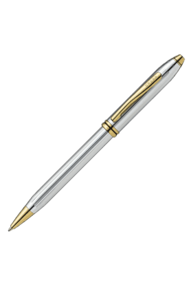 CROSS Townsend, Medalist, Ballpoint Pen, Polished Chrome And 23 Karat Gold Plated Appointments (502)