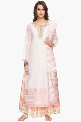 RS BY ROCKY STAR Womens Palazzo Kurta Dupatta Suit