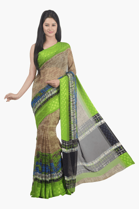 JASHN Womens Printed Saree - 201502619