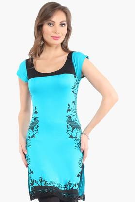 IRA SOLEILWomens Slim Fit Printed Kurta (Buy Any Ira Soleil Product And Get A Necklace Free) - 201787487