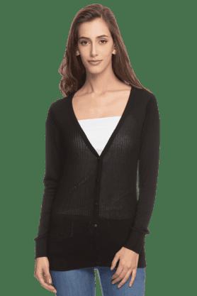 ALLEN SOLLYWomen Full Sleeves V-Neck Winterwear