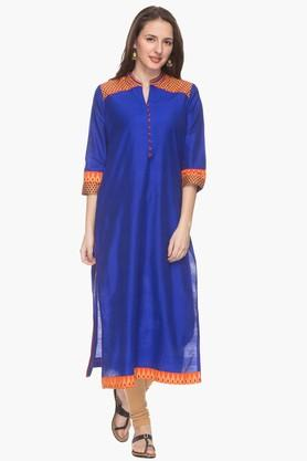 RS BY ROCKY STAR Womens Mandarin Neck Printed Kurta