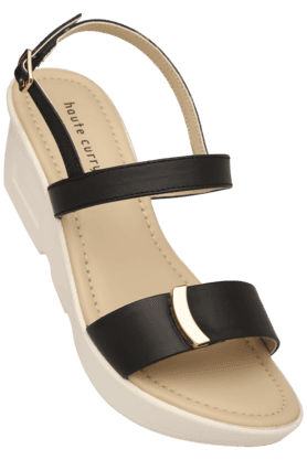 HAUTE CURRY Womens Casual Ankle Buckle Closure Wedge Sandal (Use Code FB20 To Get 20% Off On Purchase Of Rs.1800)