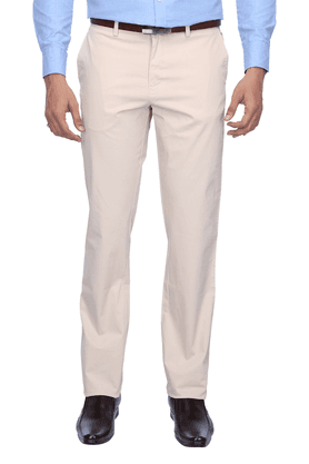 ALLEN SOLLYMens Flat Front Slim Fit Solid Chinos - 200041818