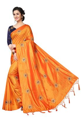 Womens Ethnic Motifs Printed Saree with Blouse Piece