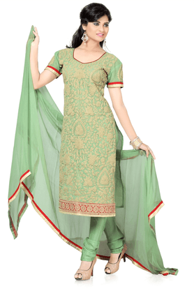 DEMARCA Chanderi Designer Dress Material