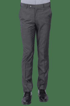 PARK AVENUEMens Flat Front Slim Fit Solid Formal Trouser - 200019723