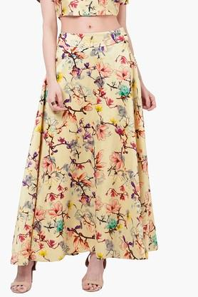 INDYA Womens Printed Maxi Skirt
