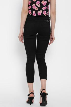 Womens Skinny Fit Solid Jeans