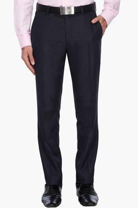 WILLS LIFESTYLEMens 4 Pocket Solid Formal Trousers