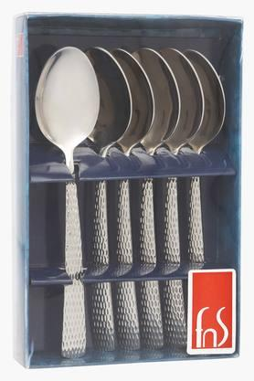 FNS Madrid Embossed Dessert Spoon Set Of 6