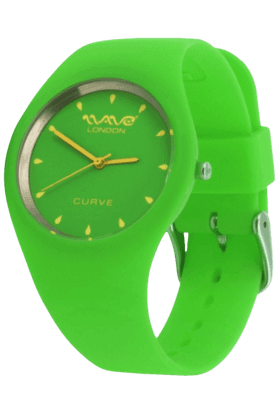 Curve Green & Yellow Ladies Watch