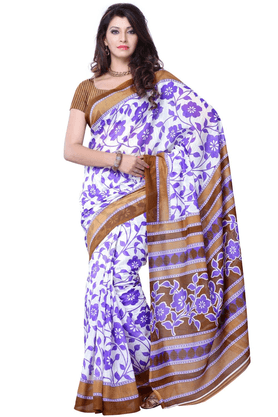 DEMARCA De Marca Purple Art Silk Designer DF-372B Saree