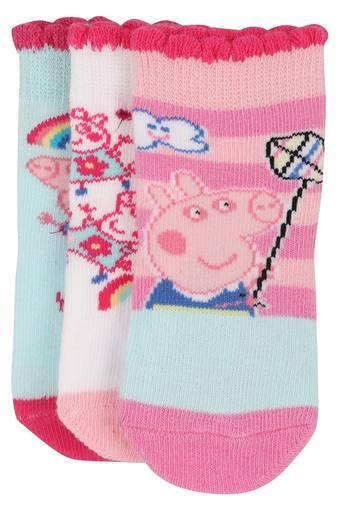 Girls Peppa Pig Print Socks - Pack of 3