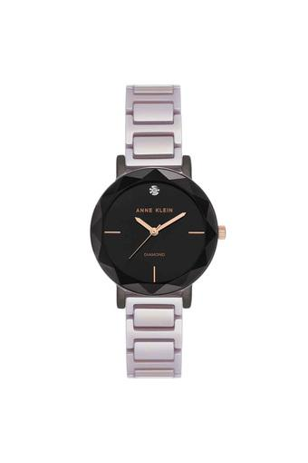 Womens Black Dial Metallic Analogue Watch - AK3365GYLV
