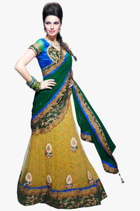 MAHOTSAV Womens Embroidered Semi-stitched Lehenga Choli - 201661674
