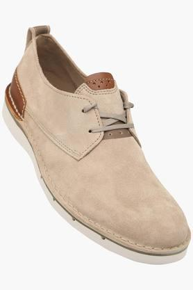 CLARKS Mens Suede Lace Up Casual Shoes  ...